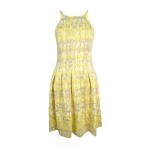 Calvin Klein Watercolor Yellow Dress
